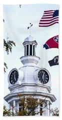 Clock Tower With Tennessee Mia Us Flag Art Bath Towel