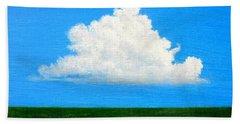 Cloud Over Wetlands Bath Towel