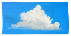 Bath Towel featuring the painting Cloud Over Wetlands by Jim Whalen
