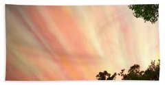Hand Towel featuring the photograph Cloud Streams by Charlotte Schafer