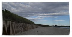 Bath Towel featuring the photograph Clouded Beach by Robert Nickologianis