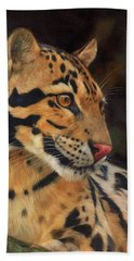 Clouded Leopard Bath Towel