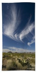 Clouds Above Chihuahuan Desert, Big Hand Towel