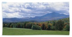 Clouds Over A Grassland, Mt Mansfield Hand Towel