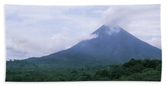 Clouds Over A Mountain Peak, Arenal Hand Towel