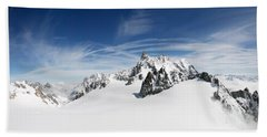 Clouds Over A Snow Covered Mountain Hand Towel