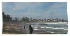 Hand Towel featuring the photograph Clouds Over Manly Beach by Leanne Seymour