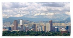 Clouds Over Skyline And Mountains Hand Towel