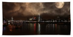 Clouds Over The River Thames Bath Towel by Doc Braham
