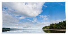 Clouds Reflected In Puget Sound Hand Towel