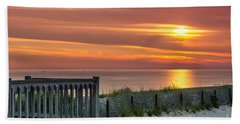 Bath Towel featuring the photograph Sandy Neck Beach Sunrise by Mike Ste Marie
