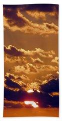 Key West Cloudy Sunset Bath Towel