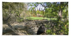 Clover Valley Park Bridge Bath Towel