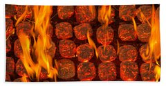 Coal Fire Bath Towel