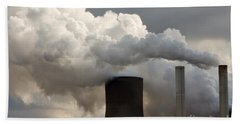 Coal Power Station Blasting Away Hand Towel