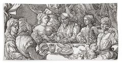 Coarse Behaviour At The Dining Table During The Renaissance Period.  After A Spanish Copper Bath Towel