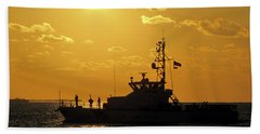 Coast Guard In Paradise - Key West Hand Towel