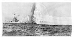 Coast Guard Tracks Icebergs Bath Towel