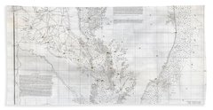 Coast Survey Nautical Chart Or Map Of The Chesapeake Bay Bath Towel