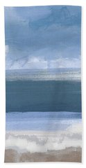 Coastal- Abstract Landscape Painting Bath Towel