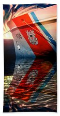 Hand Towel featuring the photograph Coast Guard Uscg Alert Wmec-630 by Aaron Berg