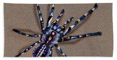 Cobalt Blue Tarantula Hand Towel