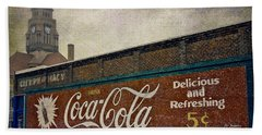 Coca-cola And A Courthouse Hand Towel