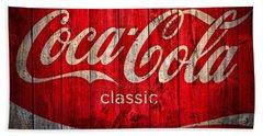 Coca Cola Barn Bath Towel