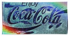 Coca Cola Rainbow Hand Towel by John Stephens