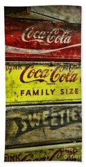 Coca-cola Wooden Crates Hand Towel
