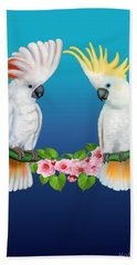 Cockatoo Courtship Hand Towel by Glenn Holbrook