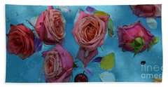 Coffee Bean And Roses Hand Towel