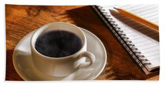 Coffee For The Writer Hand Towel