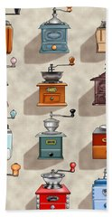 Coffee Grinder Wall Hand Towel