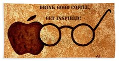 Coffee Lovers Quote 2 Hand Towel