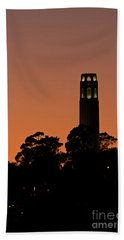 Bath Towel featuring the photograph Coit Tower Sunset by Kate Brown