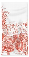 Coit Tower View From Russian Hill San Francisco Bath Towel