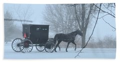 Cold Amish Morning Bath Towel