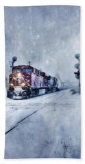 Cold Nights On The Midnight Train Color Bath Towel