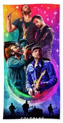 Coldplay Mylo Xyloto Hand Towel by FHT Designs