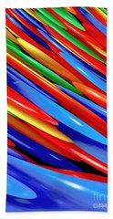 Color Bars Hand Towel by Carol F Austin