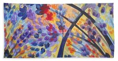 Color Flurry Hand Towel by Holly Carmichael