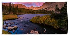 Color Over  Indian Peaks Hand Towel