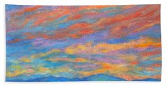Bath Towel featuring the painting Color Ripples Over The Blue Ridge by Kendall Kessler