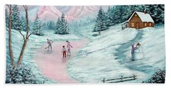 Hand Towel featuring the painting Colorado Christmas by Fran Brooks