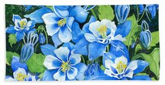 Colorado Columbines Hand Towel