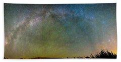 Colorado Indian Peaks Milky Way Panorama Hand Towel