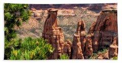 Colorado National Monument Canyon Monoliths Bath Towel