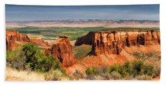 Colorado National Monument Canyon Panorama Bath Towel
