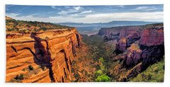 Colorado National Monument Red Canyon Panorama Bath Towel